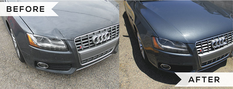 Before After Photos Tempe Auto Body Paint Repair - Audi auto body